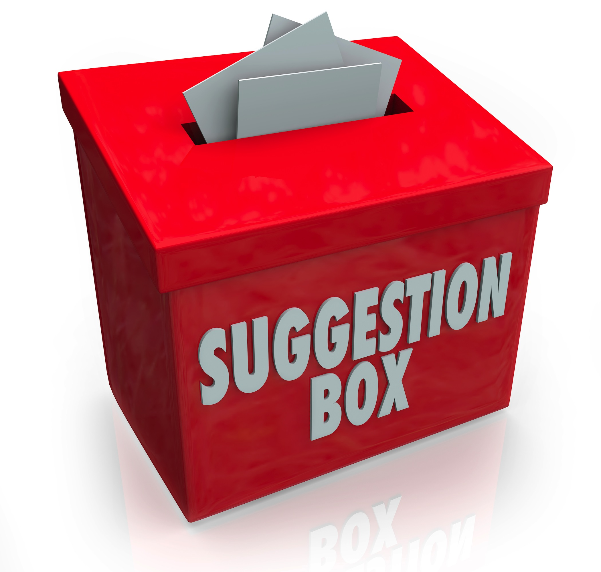 Comments: From The Suggestion Box