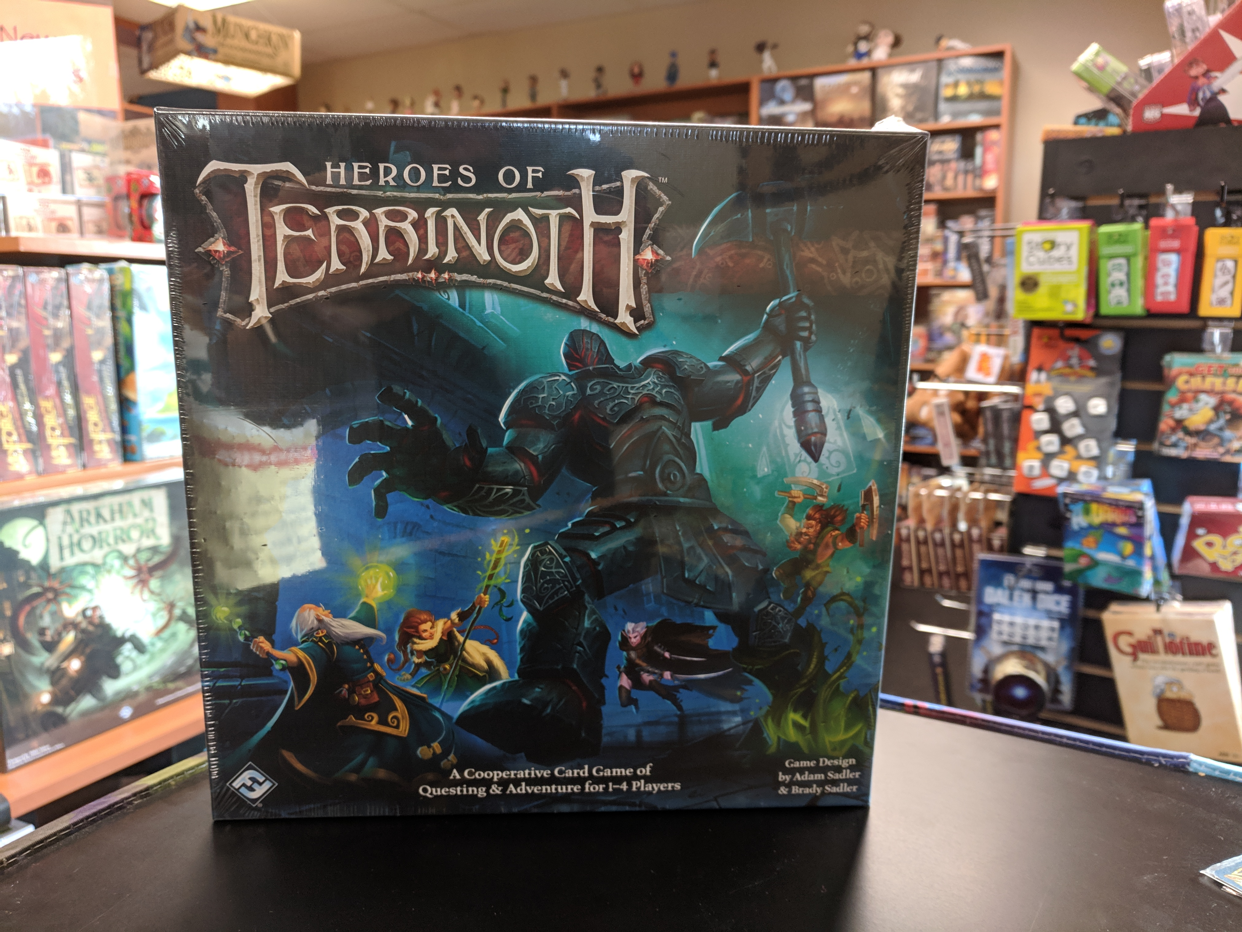 b4656087d05 Heroes of Terrinoth 1-4 players • 14+ • 30-60 mins. Heroes of Terrinoth is a  cooperative card game ...